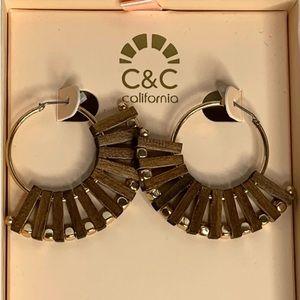 C & C California Flexible Wooden Earrings NIB